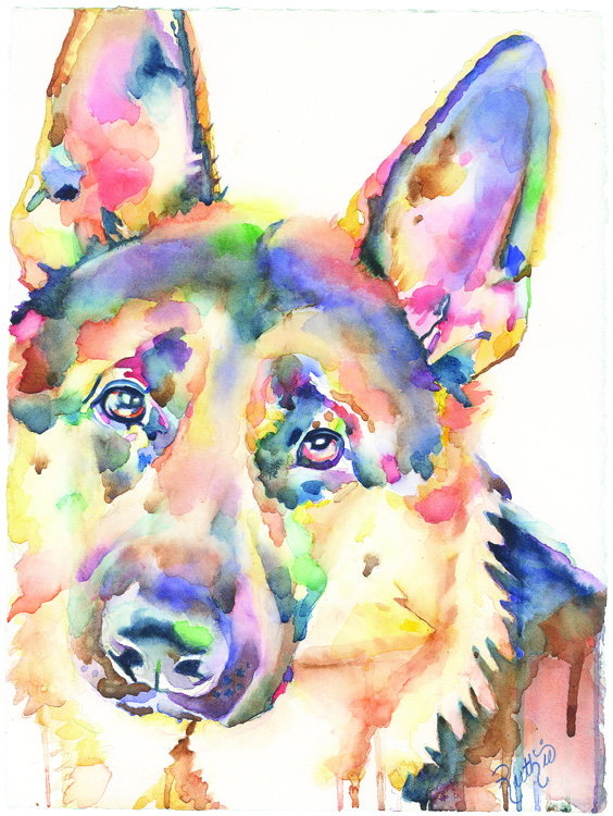 German Shepherd 11x15